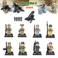 Limited Rare 8pcs World War 2 Military Army Mini Soviet US Soldier figure Building Block Brick Toy Hitlerry compatible with lego