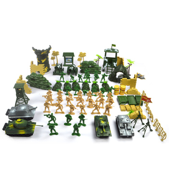 100pcs set Military Soldier Toy Model Sniper Tower Tanks Soldier Artillery Missile Climb Soldier Toy For Boys Солдат