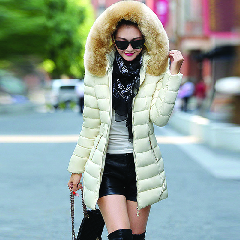 ФОТО 2016 New Women Clothes Winter Jacket Large Size Very Stylish Raccoon Fur Collar Warm Coats Womens Thicken Long Winter Parkas