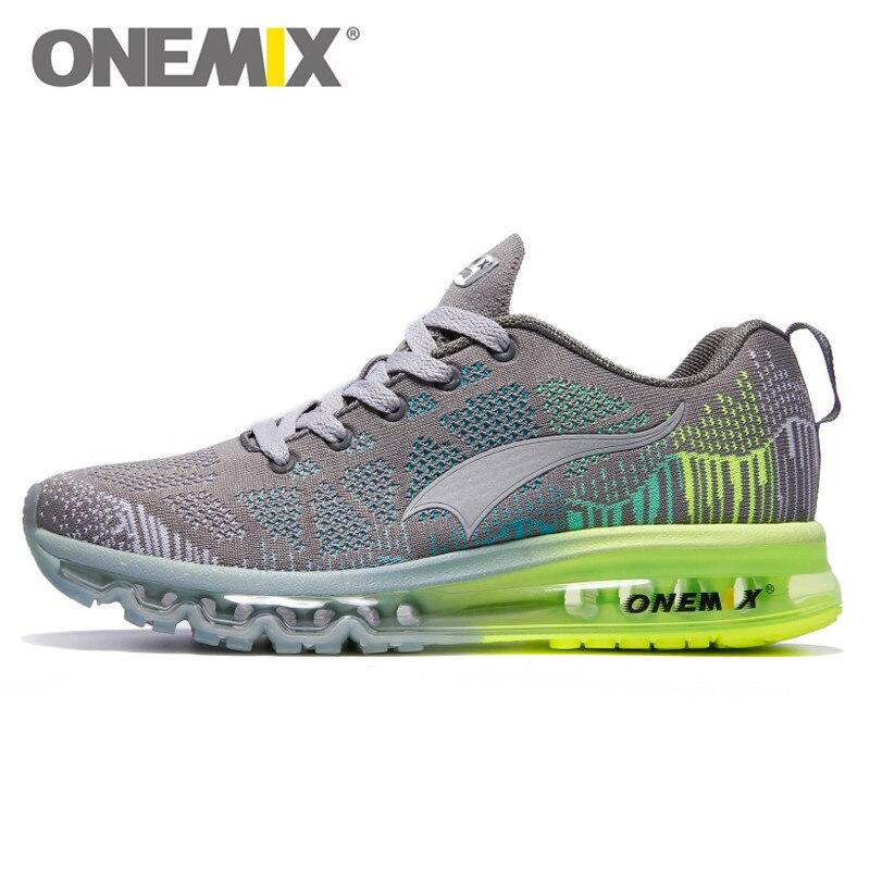 Prix pour Nouveau Couleurs onemix Air Chaussures de Course pour Hommes Femmes de Tissage Libre Sneaker Respirant Maille Tricot Sport Athletic Chaussures de Marche 1118