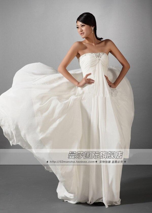 dreses free shipping 2013 bandage maxi   dresses   long white crystal cute tulle civil war   dresses   formal   dress     Bridesmaid     Dresses