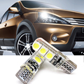 Car Stylig 2Pcs T10 5050 6SMD CANBUS Width Light Car Interior Led Strobe Reading Light DC12V Crystal Light Highlight No Warning