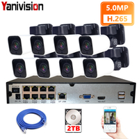 8CH H.265 PTZ 5.0MP POE 4X Zoom NVR Kit CCTV System IP Camera Outdoor Waterproof Video Security Surveillance Set Night Vision