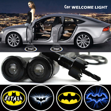 2 X Car Door Light Laser Welcome Ghost Shadow Projector Batman Logo Light for Ford Fiesta Mondeo MK4 Focus 2 3 Ranger Kuga 2x rear under mirror door welcome led ghost shadow projector light for ford kuga focus led logo light car styling lighting