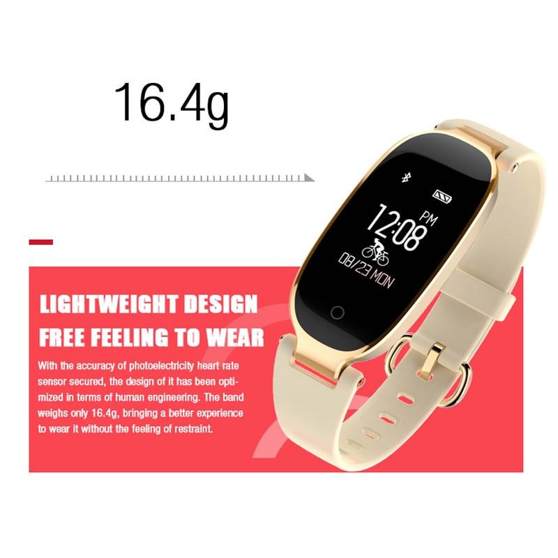 Купить с кэшбэком Bluetooth Waterproof Smart Watch women Fashion Ladies Heart Rate Monitor Fitness Tracker Smartwatch Mujer For Android IOS