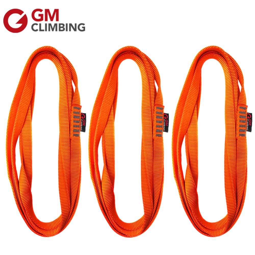 3pcs Rock Climbing Sling and Runners 22kN Nylon Gear Sling Webbing CE 60cm / 120cm Arborist Rappelling Mountaineering Equipment