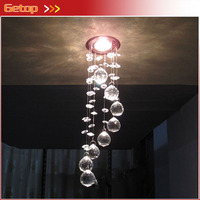 Best Price NEW Arrival 3W LED Crystal Chandelier Modern Crystal Lamps Aisle Hallway Lights Dia85mm x H300mm Free Shipping