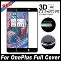 Lo nuevo de 0.3mm de La Cubierta Completa 3D Borde Ajuste Curvado de Vidrio Templado Para uno más oneplus 3 3 t tres 1 + 3 1 + 3 t protector de pantalla de cristal película