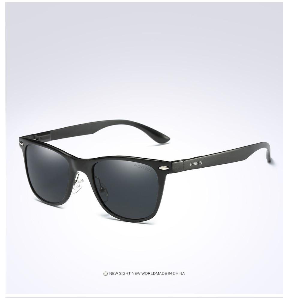 AORON Sunglasses Man Woman drive Popular Brand Design Polarized Sunglasses Summer HD Polaroid Lens Sun Glass 5 Colors A8154