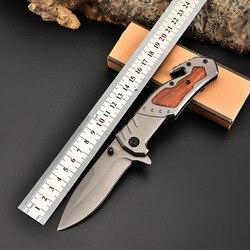 Nowy 7CR18MOV ostrze ze stali ostrze taktyczny składany kieszonkowy nóż 57HRC Camping survivalowe noże myśliwskie drewna palisander nóż w Noże od Narzędzia na
