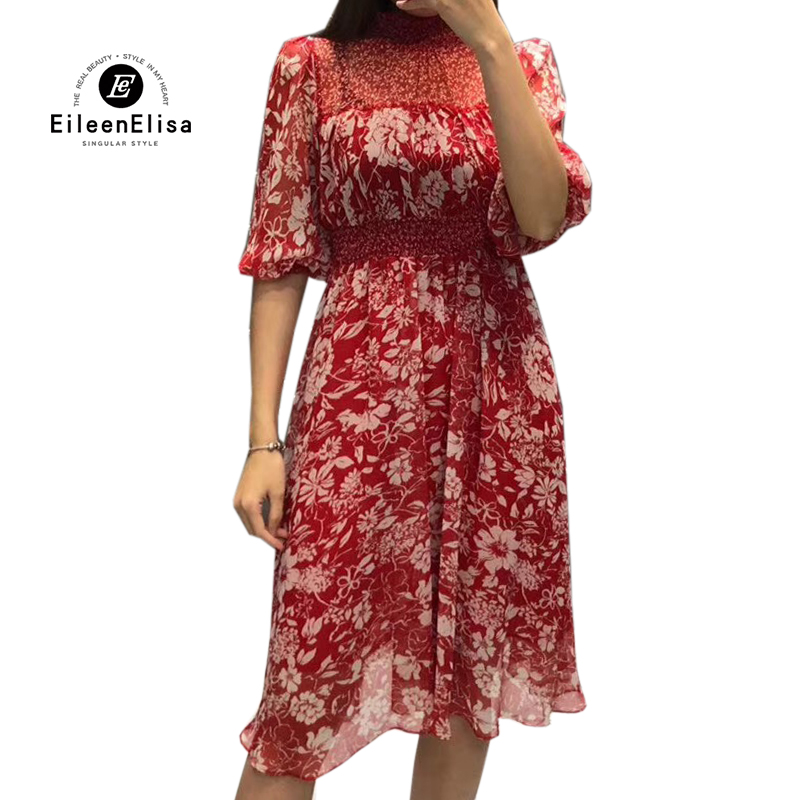 9b68217cb0 Robes-de-femmes-Printemps-t-2019-Impression-Rouge-Robe-d-contract-Dames -Moiti-Manches-robe-lignes.jpg