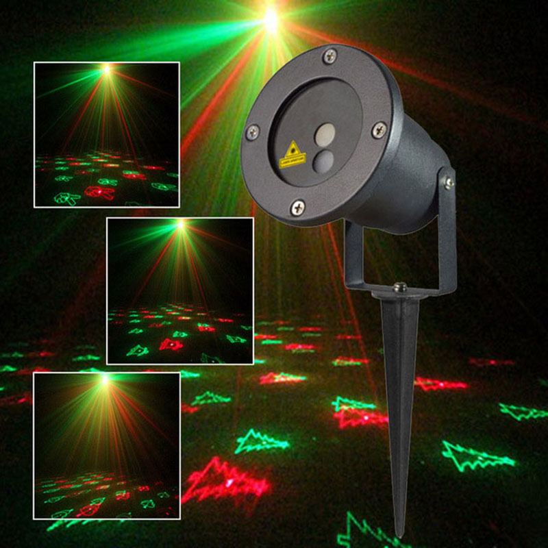 цена на Christmas Light Outdoor Garden Mini Projector Laser 12Patterns Red Green Waterproof Wedding decoration Laser lighting