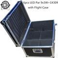 6pcs/lot with flight case for LED Fat Par 9X10W+1X30W Led Light RGB 3IN1 LED Light Stage DJ Light DMX Led Par Par Party Lights
