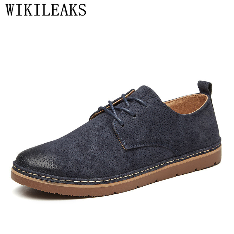Italian Brand   Suede     Leather   Mens Dress Shoes Oxford Shoes For Men Breathable Moccasin Formal Wedding Shoes Zapatillas De Hombre