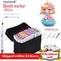 TouchFIVE Art Marker 80 Colori Disegno Marcatore di Animazione Sketch Markers Set Per Artista Manga cohol Marcatore a Base di forniture Pennello