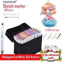 TouchFIVE Art Marker 80 Colors Drawing Marker Animation Sketch Markers Set For Artist Manga cohol Based Marker Brush supplies