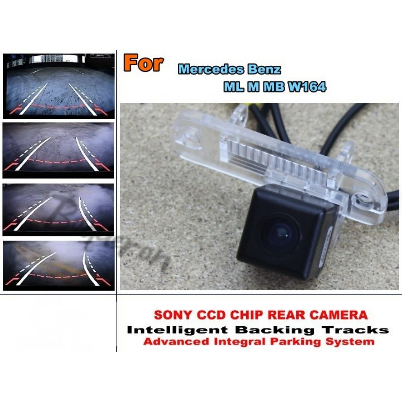 Intelligent Car Parking Camera For Mercedes Benz ML M MB W164 with Tracks Module Rear Camera