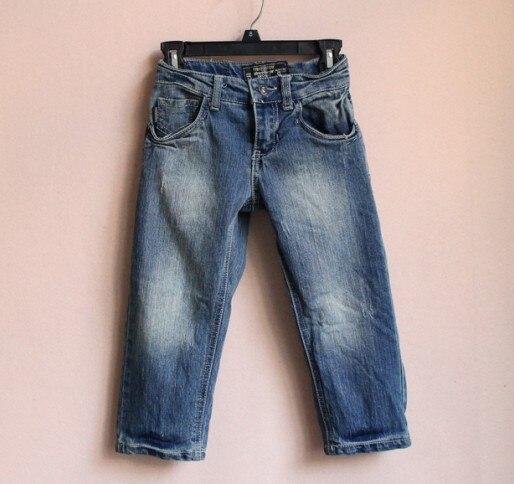 2019 Kinder Gewaschen Weiße Jeans Jungen Hosen.