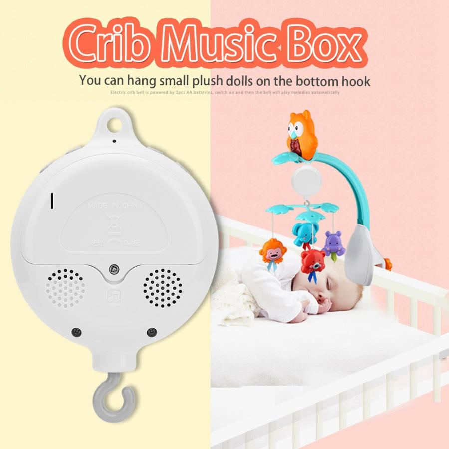Baby Bed Musical Mobile Hanging Rattles// Wind-up Music Box Holder Arm Bracket