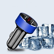 Car Phone Charger Dual Usb Car Charger LED Display USB Charger Fit For Universal USB Phone Tablet Charger