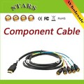 1.5m 1080p gold HDMI to 5 RCA audio video AV component cable