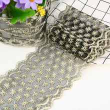 1 meter Black Embroidered Lace Net Ribbon Hollow Fabric For DIY Sewng Patchwork Textile Cloth Home Decoration Accessories