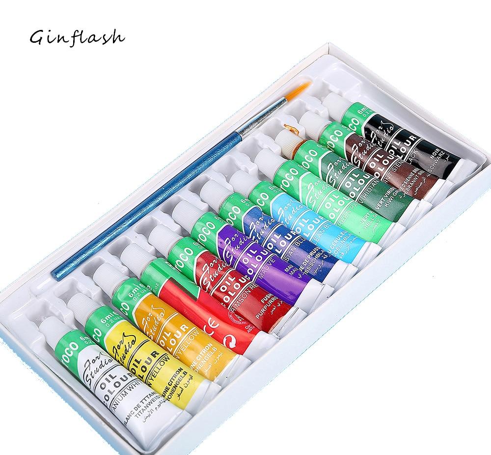 Professional Oil Paint Set - 12colors