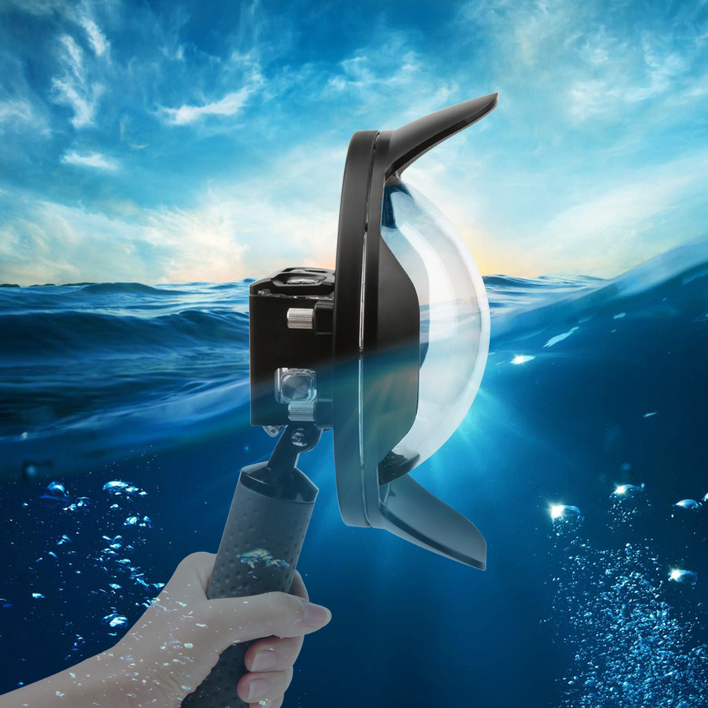 Newest 6 inch Diving Dome Port Fish Eyes Sport Action Underwater Camera Waterproof Case For Gopro Hero 5 Accessories camera release 6 underwater dome port diving lens photography dome port for the gopro hero3 4 action sport cameras