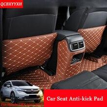Car-Styling PU 3pcs Car Interior Seat Protector Side Edge Protection Pad Car Stickers Anti-kick Mat For Honda CRV CR-V 2017 2018