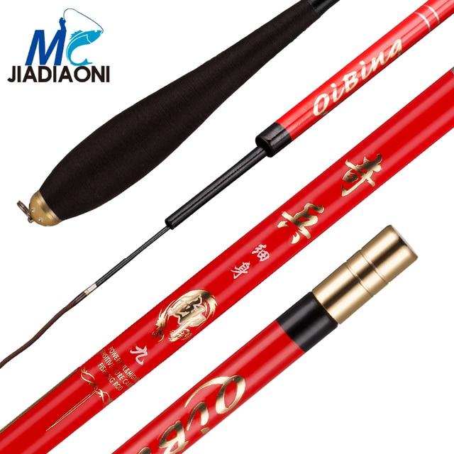 Best Price JIADIAONI 37 Tune Carbon Fiber Super Light Thin 2.7m/3.6m/3.9m/4.5m/4.8m/5.4m/ Taiwan Fishing Rod Fishing Tackle