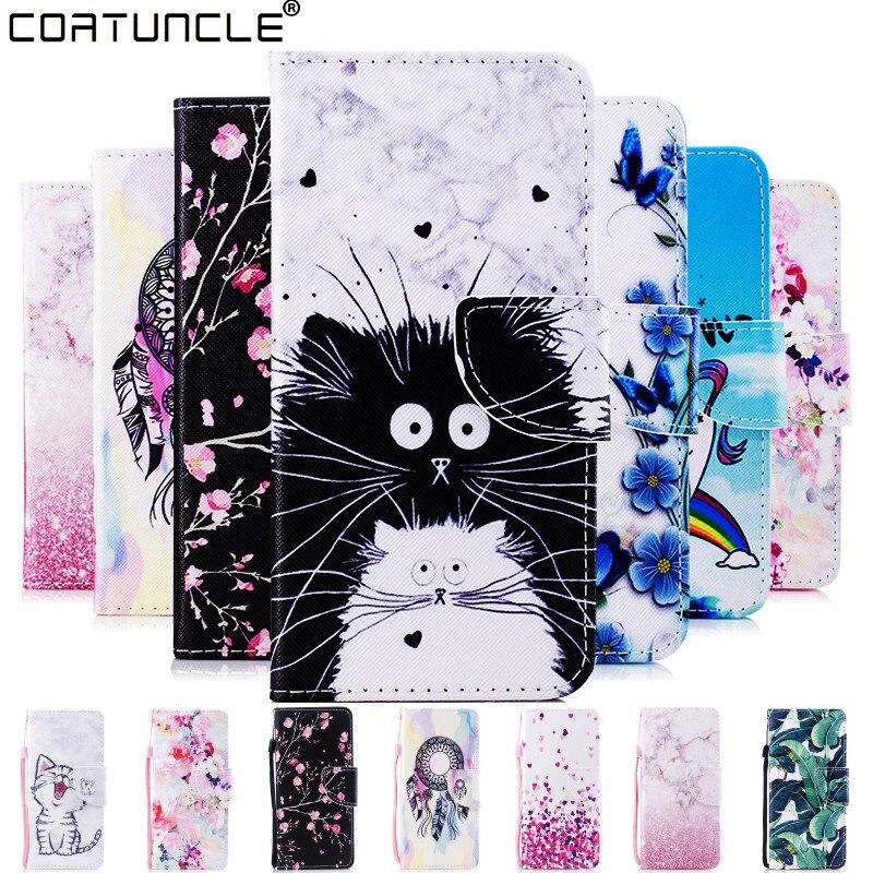 Für Samsung Galaxy A50 Leder Fall auf für Coque Samsung A10 A20 A30 A40 A50 A70 Abdeckung Nette katze Stil flip Brieftasche Telefon Fällen