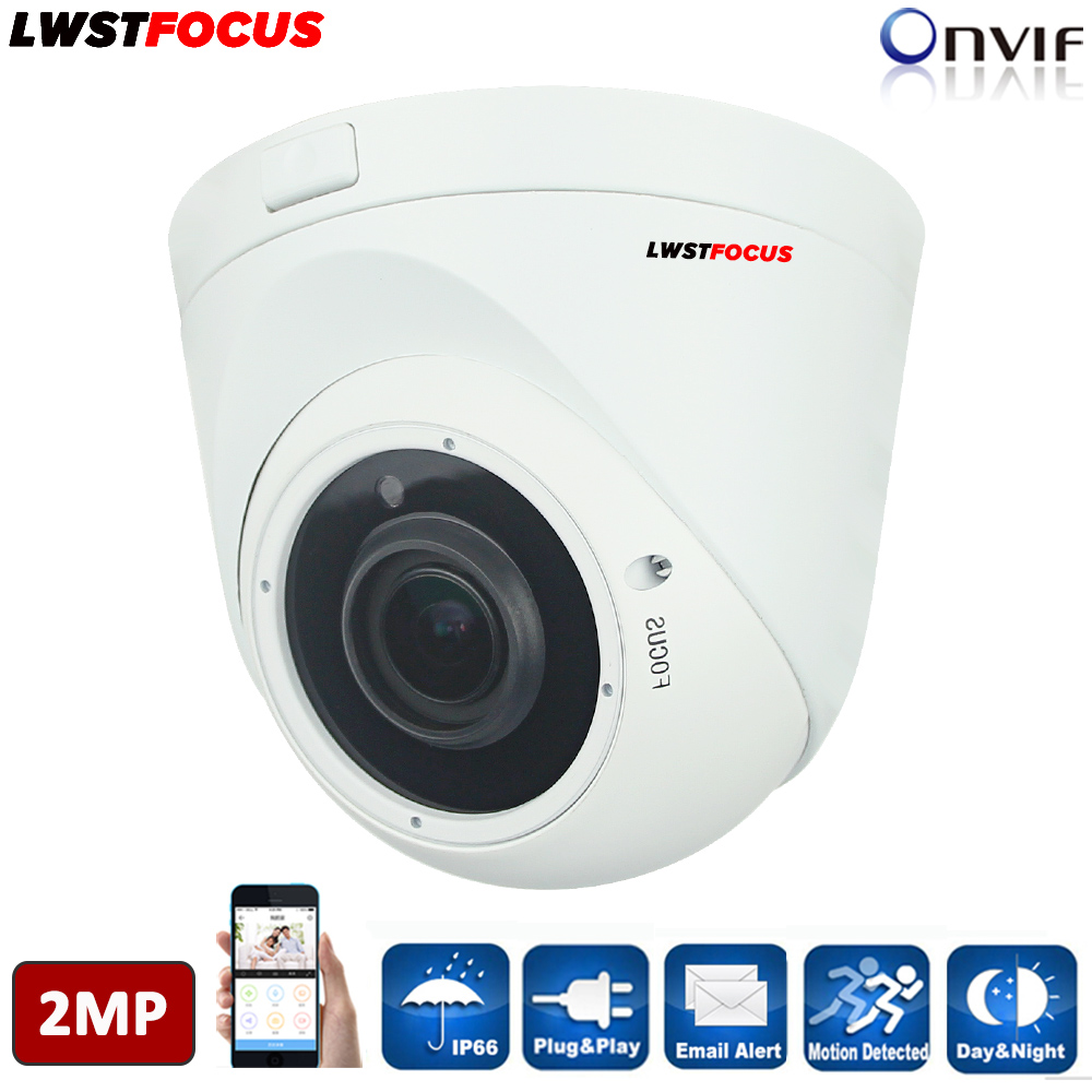 LWSTFOCUS H.264/H.264+ 2MP IP Camera Outdoor POE Option FULL HD 1080P CCTV Dome Camera Vandal-proof Waterproof Outdoor IP Camera original roland xj 740 mainboard