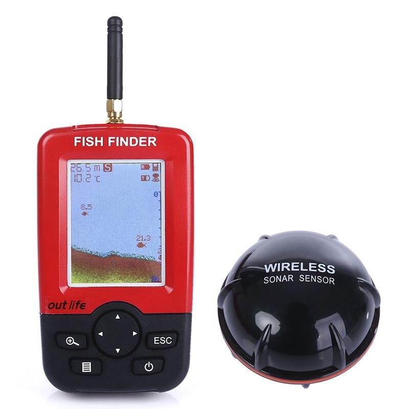 Sews-smart détecteur de poissons de profondeur Portable avec capteur Sonar sans fil 100 M sondeur écho sondeur sondeur pour la pêche en mer de lac