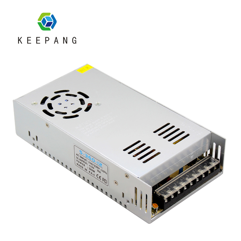 1pc 12V 30A 360w Power Supply 3D Printer Regulated Switching Power Supply For Reprap i3 Kossel Detal 3D Printer Power Source 360w 12v 30a switching power supply industrial power supply safety equipment power supply
