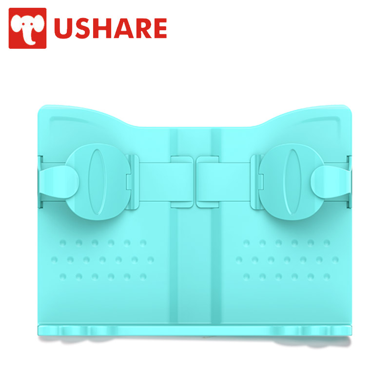 USHARE Office Supplies Portable Bookends Environmental ABS Plastic Material Book Holders Reading Stand In Bed For kids Harmless partial to pink