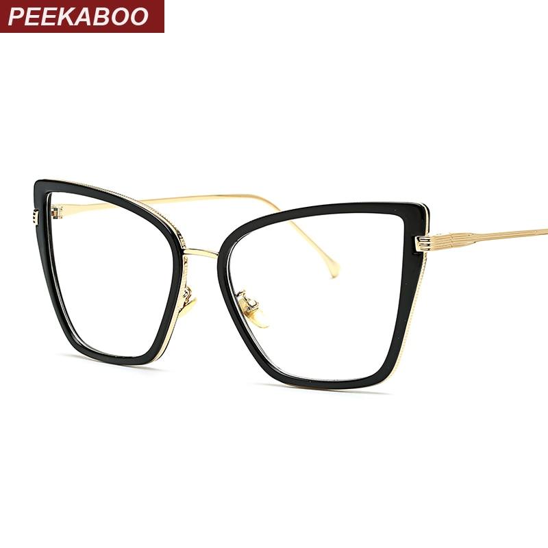 Aliexpress.com : Buy Peekaboo sexy black cat eye glasses ...