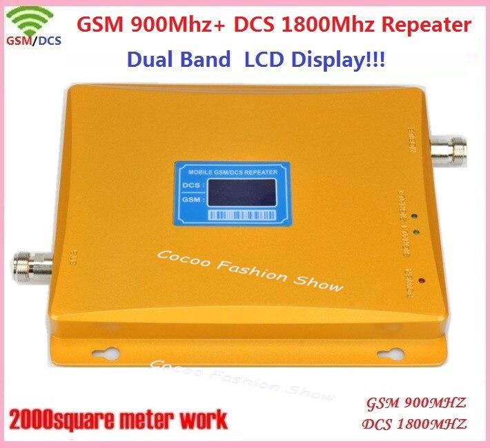 Écran LCD 900/1800 mhz double bande 4G GSM amplificateur de signal celulaire, répéteur de signal mobile de téléphone portable GSM DCS, amplificateur de signal GSM