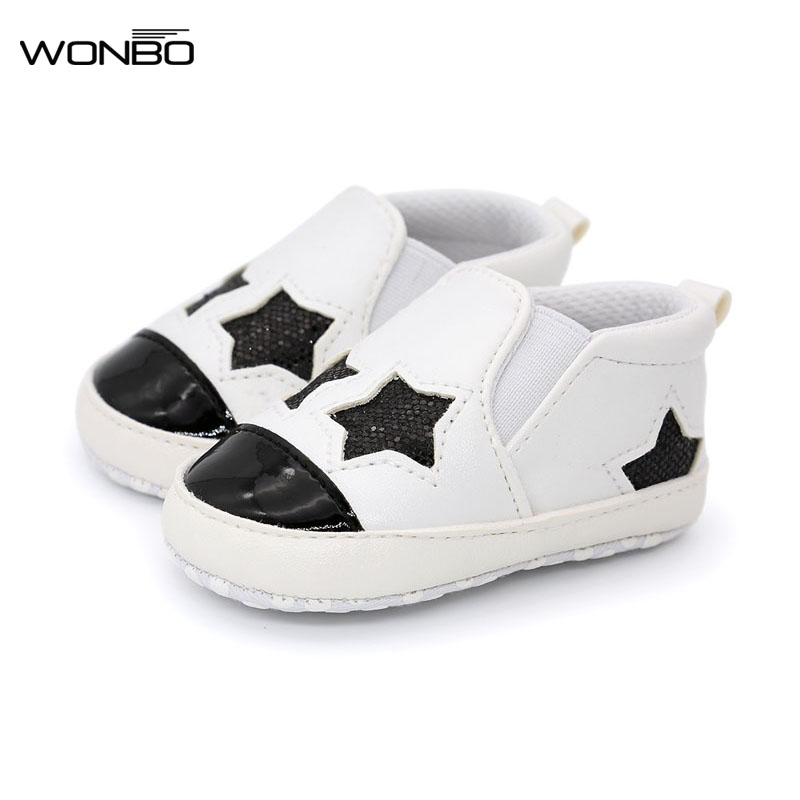 2017 Hot sale pu leather bling sequins stars baby shoes moccasins Infant Toddler boys girls first walkers sneakers 4 colors