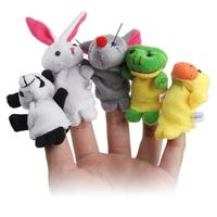 LeadingStar 50 pz/set Finger Puppet Vendita Calda Cartoon Animal Biologica Puppet Peluche Giocattoli Del Bambino Del Bambino di Favore Bambola
