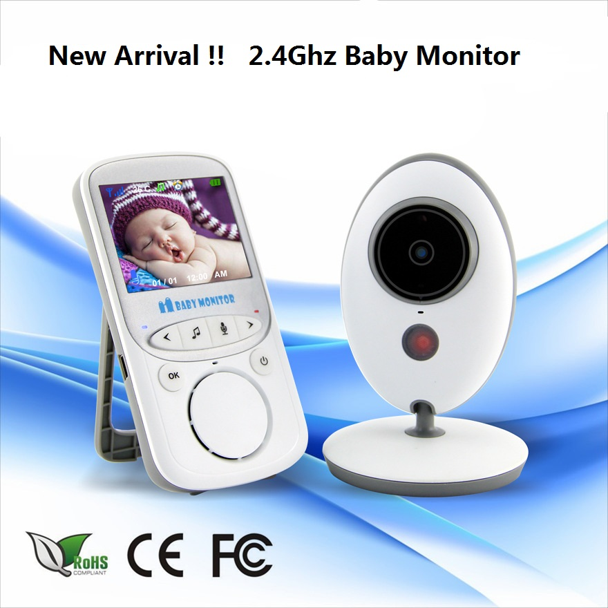 Special Offer Wireless 2.4Ghz LCD Audio Video Wireless Baby Monitor VB605 Nanny Music Baby Camera Temperature Display babysitter 2 4ghz wireless digital camera temperature time and music display wireless intercom baby monitor
