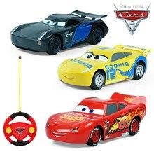 2017 font b Disney b font Pixar Juguetes Carros McQueen Jackson Cruz Remote Control Car Toys