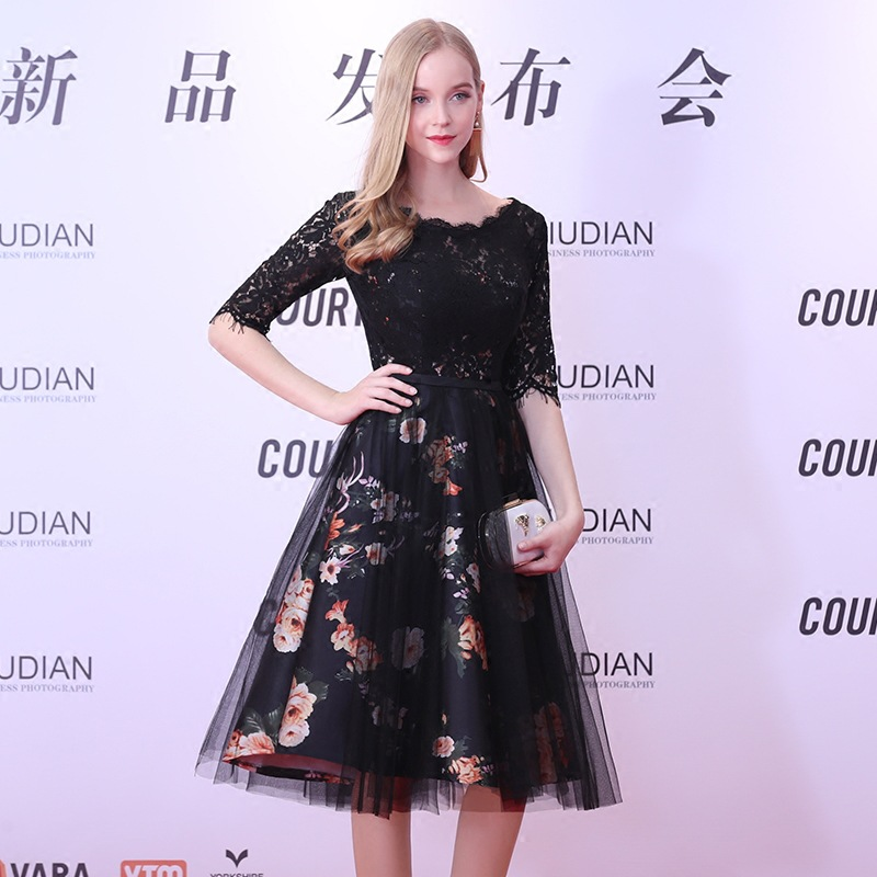 Black Oriental Style Banquet Dresses Chinese Vintage Traditional Wedding Cheongsam Elegant Evening Party Gowns Size XS-XXL