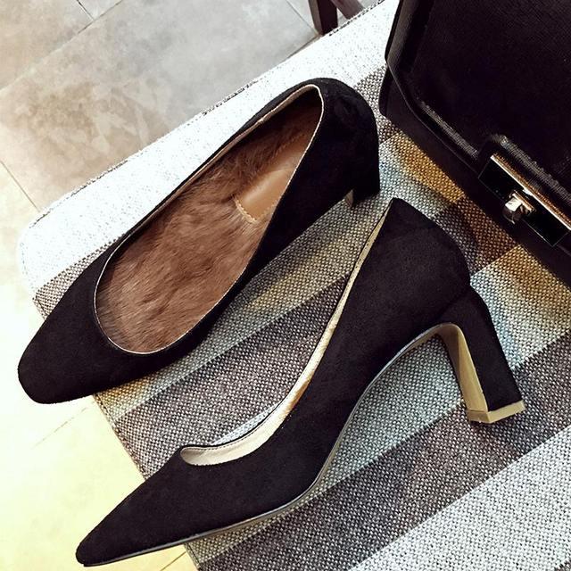 Nueva marca de moda de primavera sólido zapatos de tacón alto bombas de las mujeres elegante punta redonda de alta calidad de novia sexy office lady otoño zapatos