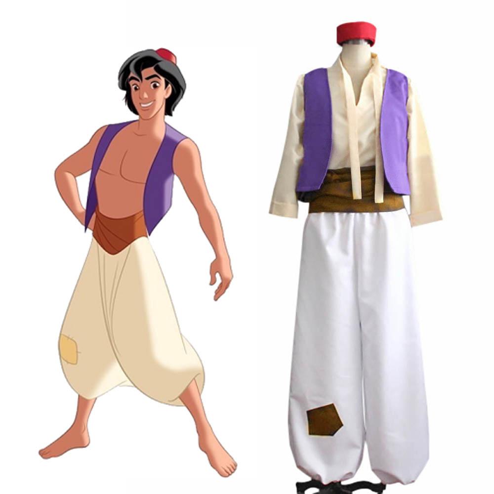 3e81dc7b8 € 36.29  Disfraz de Aladino, disfraz de príncipe árabe, traje de Cosplay,  chaleco, camisa, pantalones, sombrero, disfraz de fiesta de Halloween on ...