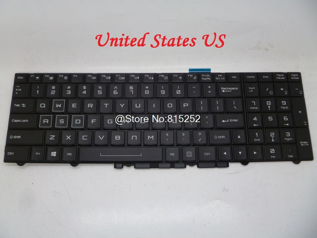 Laptop Keyboard For CLEVO P750DM-G P751ZM P770ZM-G P771DM-G P771ZM P870DM Germany GR Belgium BE United States US With Backlit laptop keyboard for clevo n550rc n550rn n551rc fn