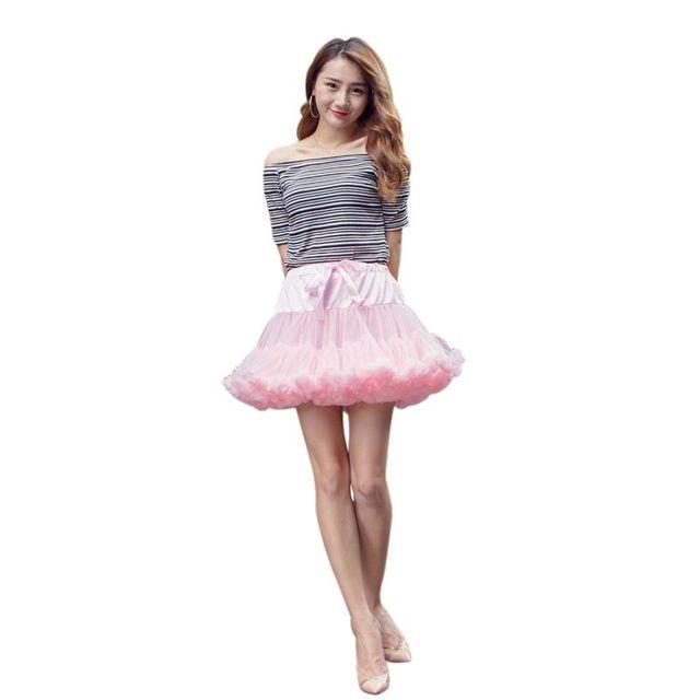 Girls Fluffy 2-18 Years Chiffon Pettiskirt Solid Colors Tutu Skirts Girl Dance Skirt Tulle Petticoat