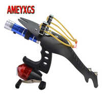 Archery Fishing Slingshot Target Shooting Arrowhead Catapult Professional Wrist Sling Shot Fishing Launcher Hunting Accessories