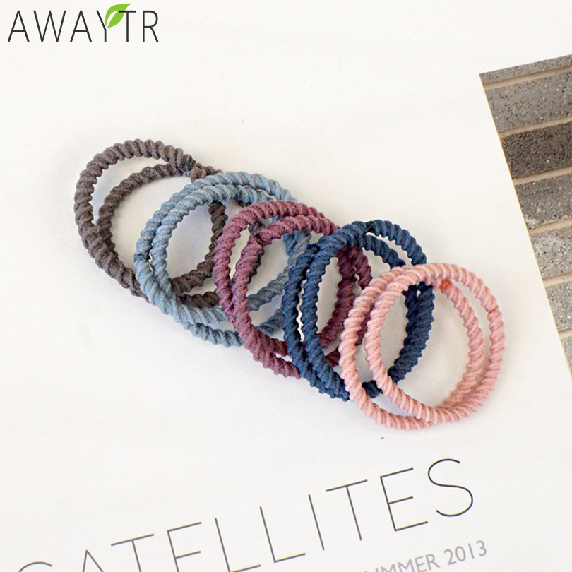 Candy Color Fashion Ripple Elastic Hair Bands Women Scrunchie Ponytail Ladies Headband Solid   Headwear   Fixed Hair Accessories