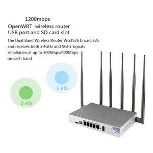Image 3 - OpenWRT Router wi fi Gigabit obsługa VPN PPTP L2TP 1200 mb/s 2.4GHz/5GHz USB 3.0 Port 3G 4G Router na kartę SIM gniazdo punkt dostępu