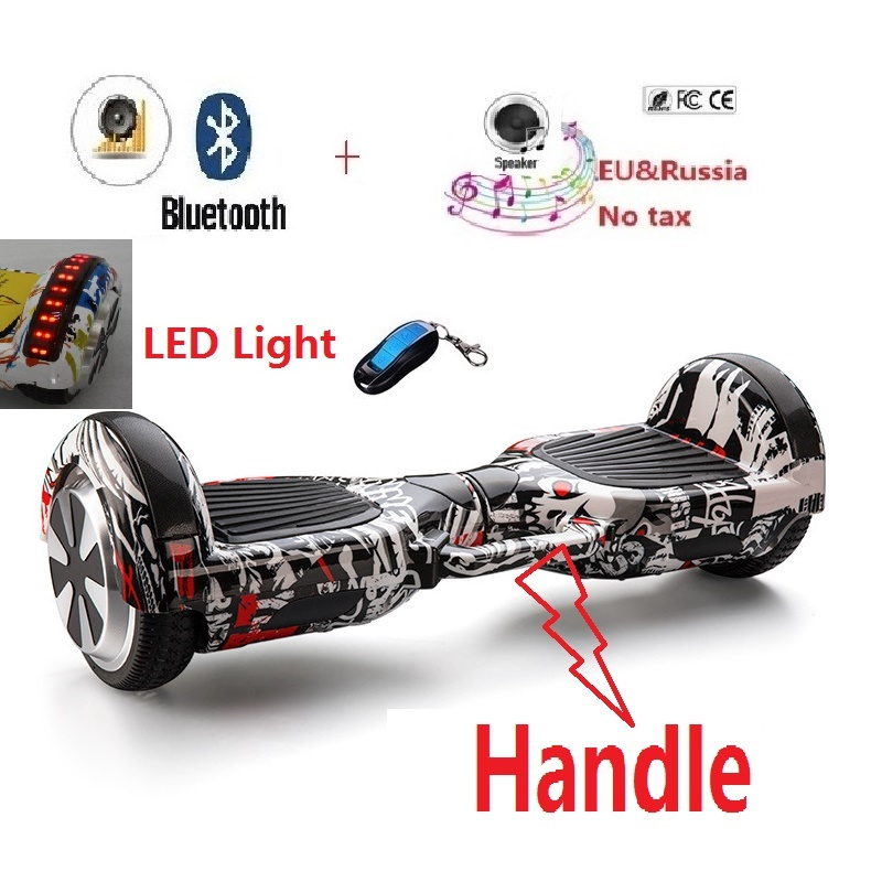 Electric skateboard with TOP LED Lights hoverboard balance scooter self balancing